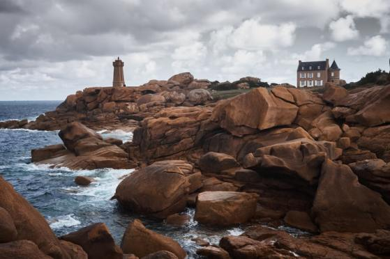 Rocks with a lighthouse