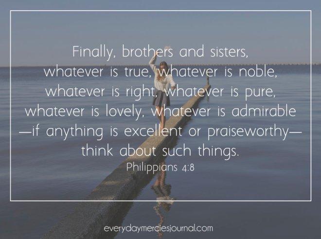 Philippians 4+8