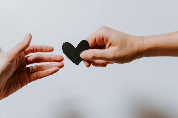 Handing a heart